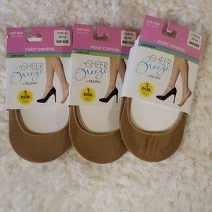 Beige foot covers